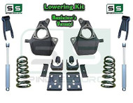 16-18 Silverado Sierra 5/8 Lowering DROP KIT STAMPED / ALUM ARMS Coils V8 SHOCKS