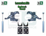 "1973 - 1987 Chevrolet Chevy GMC C10 C15 3"" F 6"" R Drop Kit 1.00""Rotors + SHOCKS"