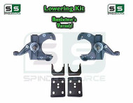 "1973 - 1987 Chevrolet Chevy GMC C10 C15 3"" Front 6"" Rear Drop Kit 1.25""Rotors"