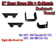 "1973 - 1987 Chevrolet Chevy GMC C10 C15 C1500 5"" Flip kit + C-Notch 73-87"