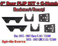 "1973 - 1987 Chevrolet Chevy GMC C10 C15 C1500 6"" Flip kit + C-Notch 6 inch 73-87"