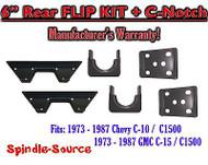 """1973 - 1987 Chevrolet Chevy GMC C10 C15 C1500 6"""" Flip kit + C-Notch 6 inch 73-87"""