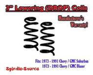 "1973 - 1991 Chevrolet GMC SUV Suburban Blazer 3"" Lowering Drop Coils Springs 73"