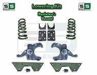 "1973 - 87 Chevrolet GMC C10 C15 5"" / 6"" Lowering Drop Kit 1.0"" Rotors 5/6 NOTCH"