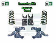 "1973 - 87 Chevrolet Chevy GMC C10 C15 5"" / 6"" Lowering Drop Kit 1.25"" Rotors 5/6"