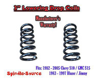 """1982 - 2005 Chevy GMC S10 S15 Jimmy 4Cyl. REG 3"""" Lowering Drop Coils Springs Kit"""