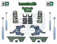 "1973 - 87 Chevy GMC C10 C15 5"" / 6"" Lowering Drop Kit 1.25"" Rotors SHOCKS NOTCH"
