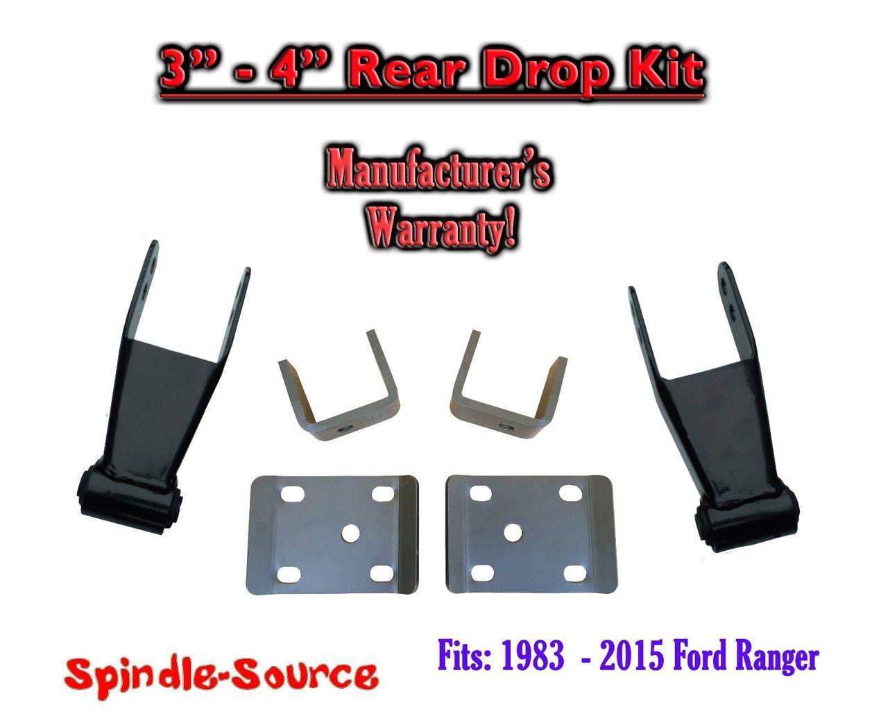 ford ranger    adjustable lowering drop rear axle flip kit spindle source