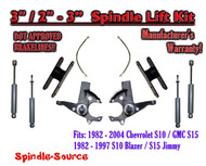 "1982 -05 Chevy S-10 S10 GMC S-15 Sonoma Blazer 3"" / 2-3"" Lift Kit Brakes Shocks"