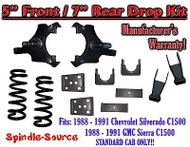 "1988 - 1991 Chevrolet GMC C1500 5"" / 7"" Drop Lowering Kit 5/7 STANDARD CAB ONLY"