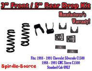 "1988 - 1991 Chevrolet GMC C1500 3"" / 5"" Drop Lowering Kit 3/5 STANDARD CAB ONLY"