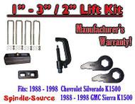 "1988 - 1998 Chevrolet GMC 1500 Torsion Level 3"" FORGED KEYS + 2"" Blocks + TOOL"