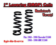 "1988 - 1998 Chevrolet GMC 1500 1"" FRONT Lowering Drop Coils Springs Kit 88-98"