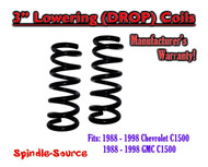 "1988 - 1998 Chevrolet GMC 1500 3"" FRONT Lowering Drop Coils Springs Kit 88-98"