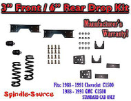"1988 - 1991 Chevy GMC C1500 3"" / 6"" Drop Lowering Kit 3/6 STANDARD CAB + NOTCH"