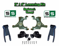 "1988 - 1998 Chevrolet GMC C1500 2"" / 4"" Drop Kit 2/4 Spindles Hanger Shackles"