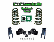 "1988 - 1998 Chevrolet GMC C1500 V8 2"" / 4"" Drop Kit 2/4 Coils Hanger Shackles"