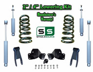 "1988 - 1998 Chevrolet GMC C1500 V8 2"" / 4"" Drop Kit 2/4 Coils Hanger + SHOCKS"