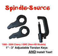 "1988 - 2006 Chevy GMC 1"" 3in FORGED Level Lift Torsion Keys SET + INSTALL TOOL"