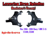 "1988 -1998 Chevy / GMC C15 C1500 C2500 2WD 2"" Drop Lowering Spindles Trucks SUVs"