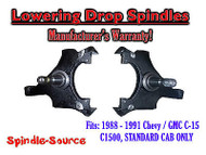 "1988 -1991 Chevy / GMC C15 C1500 STANDARD CAB 2"" Drop Lowering Spindles Trucks"