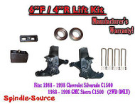 "1988 -1998 Chevy GMC C15 C1500 C2500 2WD 6"" / 4"" Spindle Blocks Spacer Lift Kit"