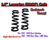 "1992 - 1999 Suburban Yukon Tahoe 2.5"" FRONT Lowering Drop Coils Springs Kit"