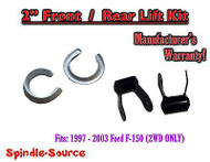 "1997 - 03 Ford F-150 2"" Coil Spacers + 1.75"" Rear Shackles 2"" / 1.75"" Lift Kit"