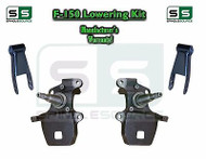 "1997 - 2003 97-03 Ford F-150 F150 2"" Drop Spindles + 1in 2"" Adjustable Shackles"