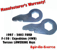 "1997 - 2003 Ford F-150 / Expedition 2"" 3in Torsion Keys Lowering DROP FORGED"