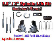 "1997 - 2003 Ford F-150 F150 2WD 5.5"" / 2"" Spindles blocks LIFT KIT + SHOCKS"