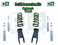 "1997 - 2003 Ford F-150 F150 V6 2WD 2"" Drop Lowering Kit Coils Shackles + SHOCKS"