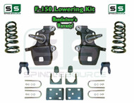"1997 - 2003 Ford F-150 F150 V6 2WD 3"" / 5"" Drop Lowering Kit Coils Axle Flip"