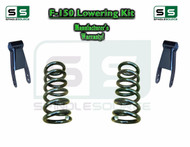 "1997 - 2003 Ford F-150 F150 V6 2WD 2"" / 2"" Drop Lowering Kit Coils Shackles"