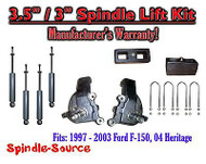 "1997 - 2003 Ford F-150 F150 2WD 3.5"" / 3"" Spindles blocks LIFT KIT + SHOCKS"