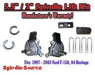 "1997 - 2003 Ford F-150 F150 2WD 5.5"" / 2"" Spindles blocks LIFT KIT"