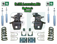 "1997 - 2003 Ford F-150 F150 V8 2WD 4"" / 6"" Drop Lowering Kit Coils Axle + SHOCKS"