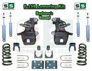 "1997 - 2003 Ford F-150 F150 V8 2WD 3"" / 5"" Drop Lowering Kit Coils Axle + SHOCKS"