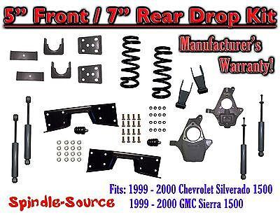 "Rear Drop Kit Fits 1999-2006 Chevy Silverado 1500 6/"" Rear flip kit With C-Notch"