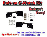 1999 - 00 Chevy Silverado GMC Sierra C-NOTCH for use with flip lowering drop kit