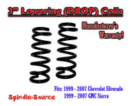 "1999 - 2006 Chevy Silverado GMC Sierra 1500 V6 3"" Lowering Drop Coils Spring Kit"