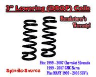 "1999 - 2006 Silverado Sierra 1500 V8 3"" Lowering Drop Coils Springs Kit"