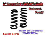 "1999 - 2006 Chevy Silverado Sierra 1500 V8 2"" Lowering Drop Coils Springs Kit"