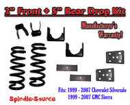 "1999 - 2007 Chevrolet Silverado / GMC Sierra 1500 V8 2"" / 5"" Lowering Drop kit"