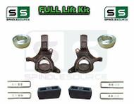 "1999 - 2007 Chevrolet Silverado GMC Sierra 1500 2WD Spindle Lift Kit 7"" / 4"""