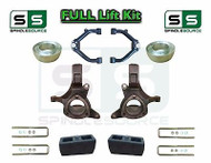 "1999 - 2007 Chevrolet Silverado GMC Sierra 1500 Spindle Lift Kit 7"" / 4"" + UCA"