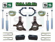 "1999 - 2007 Chevy Silverado Sierra 1500 Spindle Lift Kit 7"" / 4"" SHOCKS + UCA"