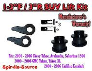 "2000 - 06 Chevrolet GMC 1500 1-3"" / 3"" Torsion Key Lift Chevy 00-06 Spacer + EXT"