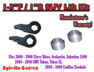 "2000 - 2006 Chevrolet GMC 1500 1-3"" / 1"" Torsion Key Lift Chevy 00-06 Spacer Kit"