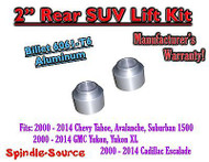 "2"" Rear Aluminum Billet Coil Lift Spacer Chevy GMC SUV 1500 Tahoe Suburban Yukon"